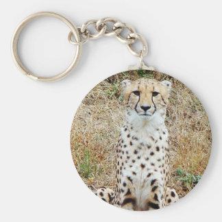 Camouflage Basic Round Button Keychain