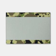 Camouflage Khaki Camo PostIt Notes at Zazzle