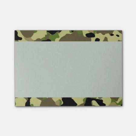 Camouflage Khaki Camo Postit Notes