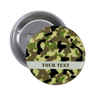 Camouflage Khaki Commando Game Badge Name Tag Pinback Button