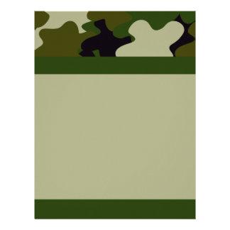 Camouflage Letterhead