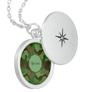 Camouflage Locket Necklace