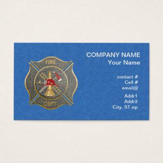 Camouflage maltese  firefighting cross business card