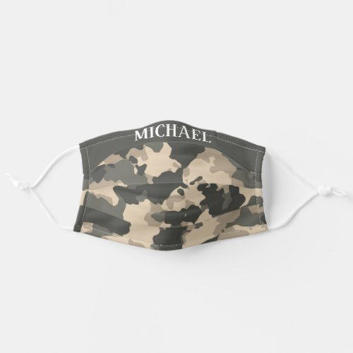 Camouflage Military Camo trendy Personalized Adult Cloth Face Mask