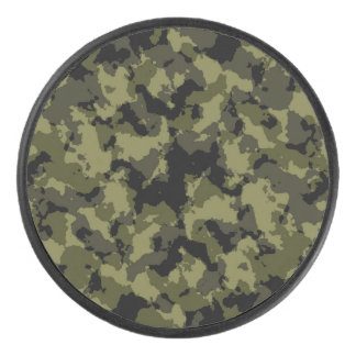 Camouflage military hockey puck