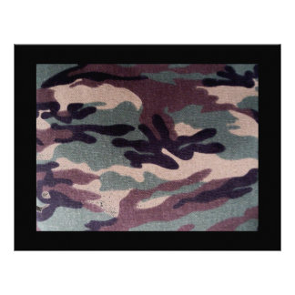 Camouflage Military Letterhead Scrapbooking