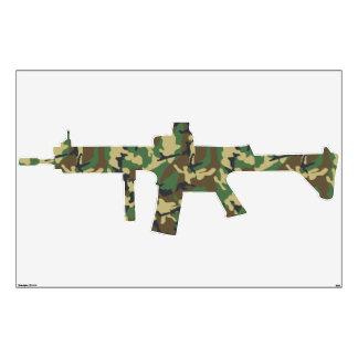 Camouflage Military Machine Gun Wall Decal