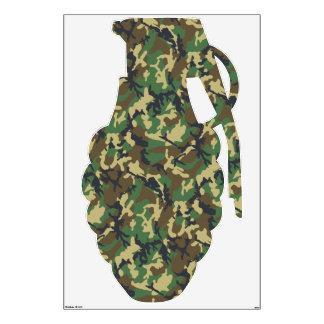 Camouflage Military Machine Gun Wall Sticker
