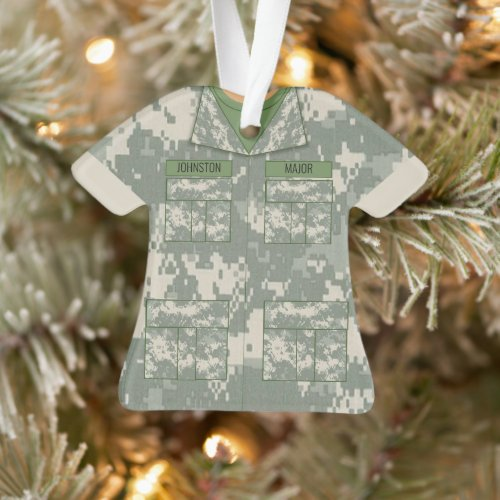 Camouflage Military Personalized Pocket Occupation Ornament