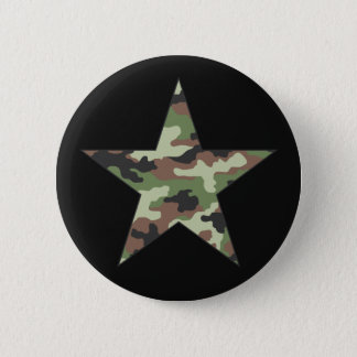 Camouflage Military Star Button