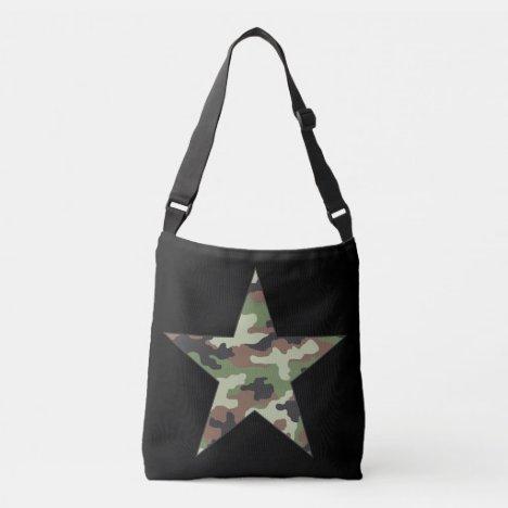 Camouflage Military Star Crossbody Bag