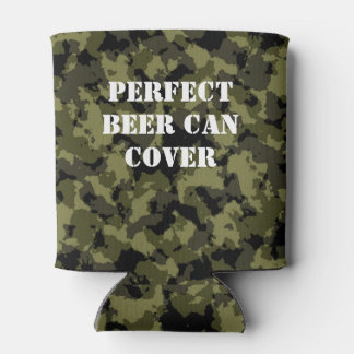 Camouflage military style pattern can cooler