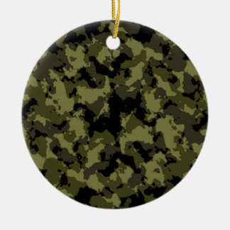 Camouflage military style pattern ceramic ornament