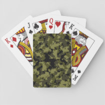 Camouflage military style pattern playing cards