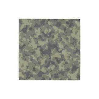 Camouflage military style pattern stone magnet