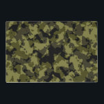 """Camouflage military style placemat<br><div class=""""desc"""">Camouflage military style pattern. Where there is a text,  you can change or delete the text. Just for fun and for anyone who loves military style. Horizontal products.</div>"""
