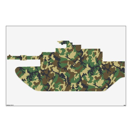 Camouflage military tank wall decal zazzle for Camouflage wall mural