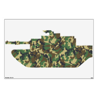 Camouflage Military Tank Wall Sticker