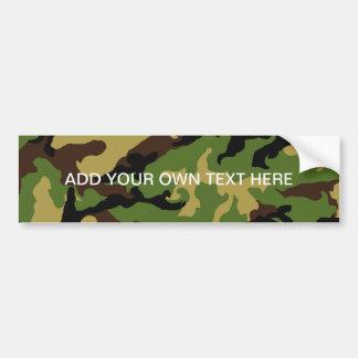 'Camouflage Military Tribute' Bumper Sticker