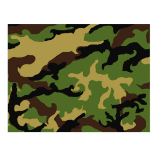 Camouflage Military Tribute Postcard