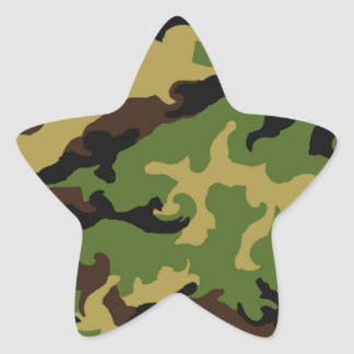 'Camouflage Military Tribute' Stickers Star Sticker