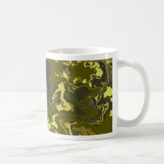 Camouflage Modern Squiggle Design Coffee Mug