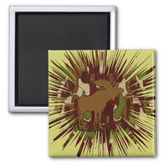 Camouflage Moose Break-out Camo 2 Inch Square Magnet