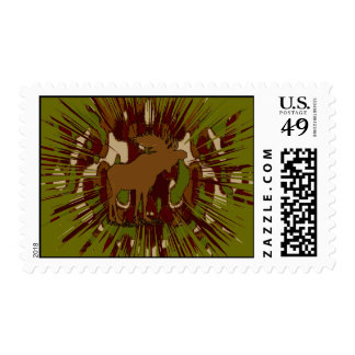 Camouflage Moose Break-out Camo Postage
