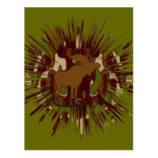 Camouflage Moose Break-out Camo Postcard