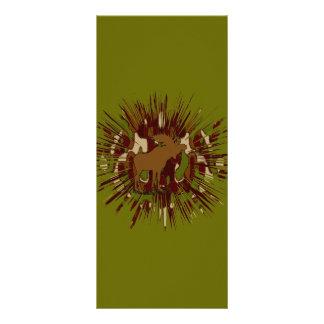 Camouflage Moose Break-out Camo Rack Card