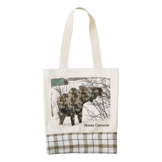 Camouflage Moose (Camoose) Zazzle HEART Tote Bag