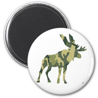 Camouflage Moose Silhouette Magnet