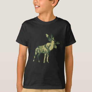 Camouflage Moose Silhouette T-Shirt