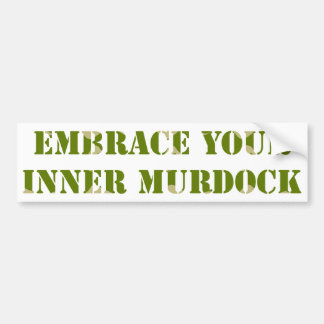 Camouflage Murdock Bumper Sticker