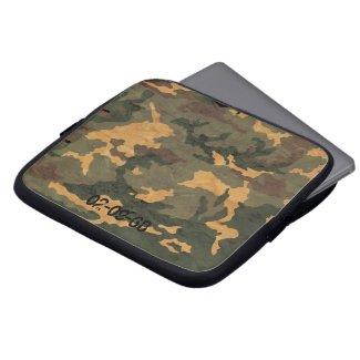 Camouflage Muster Computer Sleeve