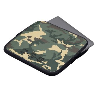 Camouflage Muster Laptop Computer Sleeve