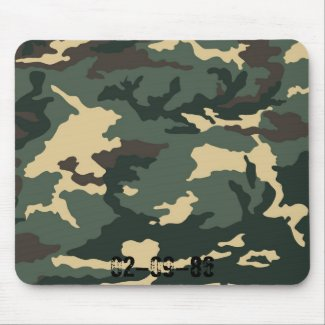 Camouflage Muster Mousepad