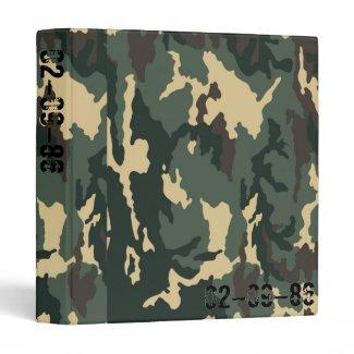 Camouflage Muster Vinyl Binders