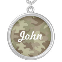 Camouflage Name Necklace