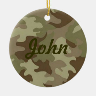 Camouflage Name Ornament