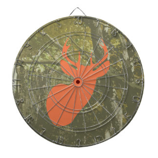 Camouflage & Orange Deer Dart Board