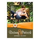 "Camouflage Orange Hunting Camo Wedding Invitations 5"" X 7"" Invitation Card"