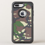 """Camouflage OtterBox Defender iPhone 8 Plus/7 Plus Case<br><div class=""""desc"""">Phone designed with a military camouflage pattern.</div>"""