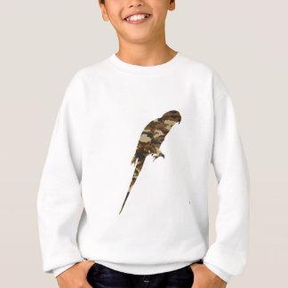 Camouflage Parakeet Silhouette Sweatshirt
