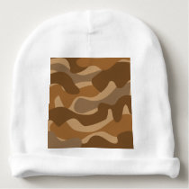 Camouflage pattern baby beanie