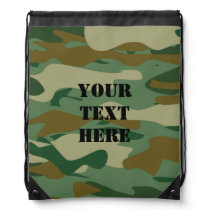 Camouflage pattern bag | Camo drawstring backpack