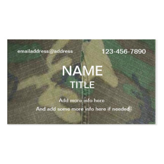 Camouflage Pattern Business Cards