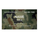 Camouflage Pattern Double-Sided Standard Business Cards (Pack Of 100)