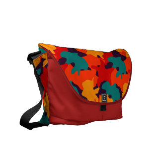 Camouflage pattern courier bag