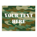Camouflage pattern design postcards   Personalized
